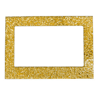 PURE GOLD Splatter Pattern + your text / photo Magnetic Photo Frame