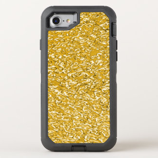 PURE GOLD Splatter Pattern + your text / photo OtterBox Defender iPhone 7 Case