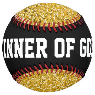 PURE GOLD Splatter Pattern + your text / photo Softball