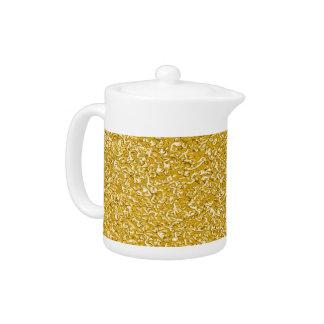 PURE GOLD Splatter Pattern + your text / photo Teapot