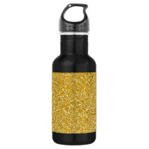 PURE GOLD Splatter Pattern   your text / photo Water Bottle