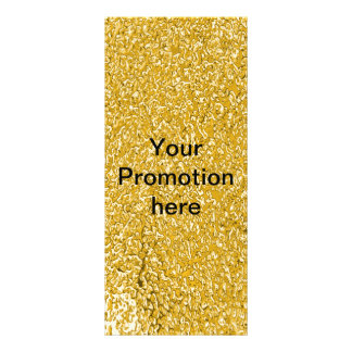 PURE GOLD Splatter Pattern + your text Rack Card