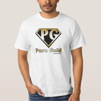 Pure Gold with text Tee Shirt