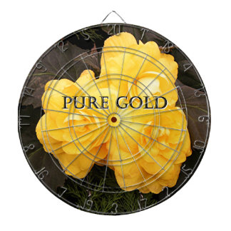 Pure gold: yellow begonia flower dartboards
