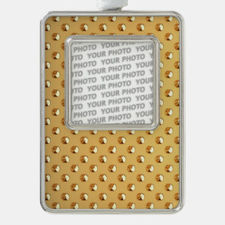 PURE GOLDEN PEARLS Pattern + your text / photo Ornament