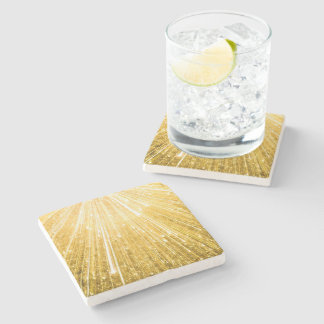 PURE GOLDEN shower Pattern + your text / image Stone Coaster