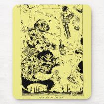 artsprojekt, jim, mahfood, food, one, 40oz, comics, clerks, grrl scouts, colt 45, stupid, page, filler, man, live art, live, art, z-trip, murs, felt, true, tales, underground, hip, hop, sarah, silverman, program, frenchpulp, mahf, earthworms, comic, books., jim mahfood, jim mahfood skateboards, food one skateboards, 40 oz comics skateboards, food one, 40 oz comics, Mouse pad com design gráfico personalizado