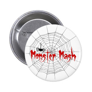 Puré Halloween del monstruo Pin Redondo De 2 Pulgadas