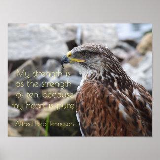 Pure Heart - Alfred Lord Tennyson quote - print