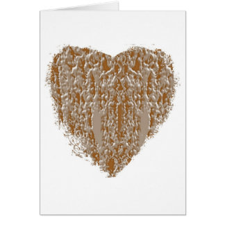 PURE Heart - Gold n Silver Engraved design Card