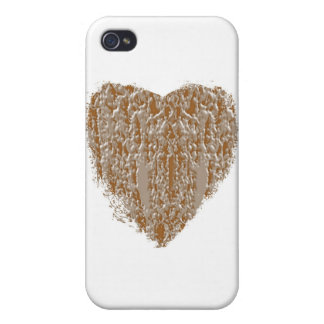 PURE Heart - Gold n Silver Engraved design iPhone 4/4S Case