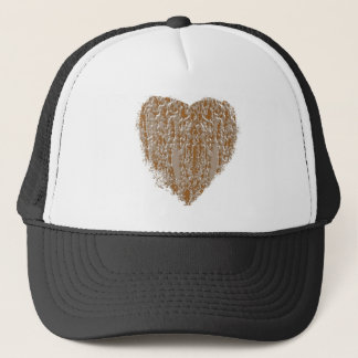 PURE Heart - Gold n Silver Engraved design Trucker Hat