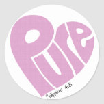 PURE Heart Pink Stickers