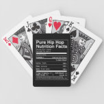 Pure Hip Hop Nutrtion Facts Playing Cards