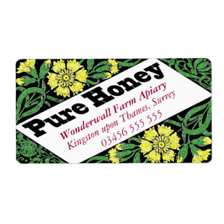 Pure Honey Yellow Flowers Label