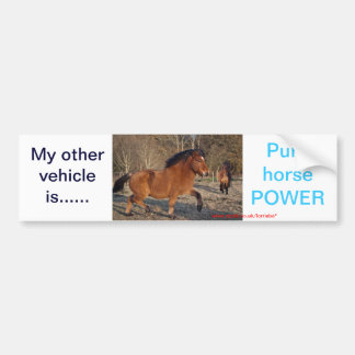 Pure horse power sticker
