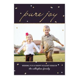 Pure Joy Holiday Photo Card Custom Invites