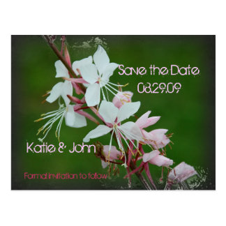 Pure Love Floral Save the Date Postcard