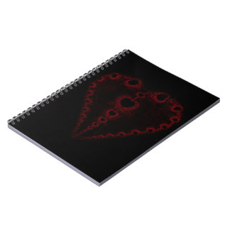 Pure Love Fractal Heart Spiral Notebook