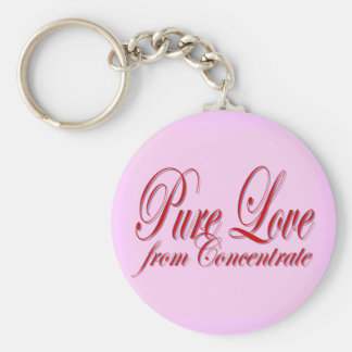 PURE LOVE from Conentrate-PINK Basic Round Button Keychain