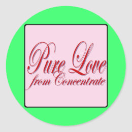 PURE LOVE from Conentrate-PINK Classic Round Sticker