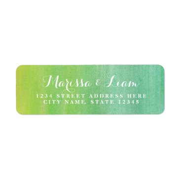 Beach Themed Pure Love Return Address Label / Lime Emerald