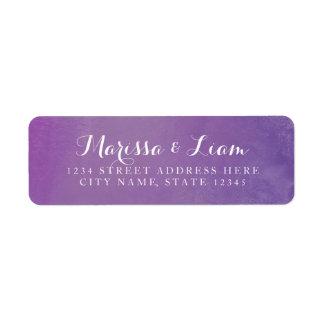 Pure Love Return Address Label / Violet