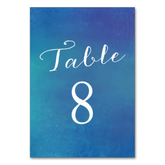 Pure Love Table Number Cards / Ocean Blue Table Cards