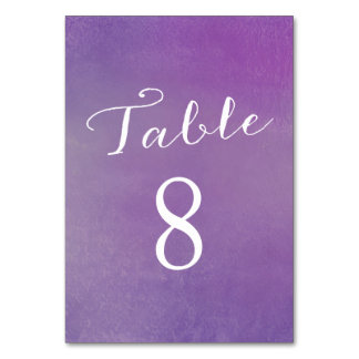 Pure Love Table Number Cards / Violet Table Cards