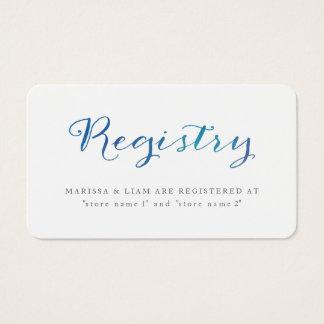 Pure Love Watercolor Registry Cards / Ocean Blue