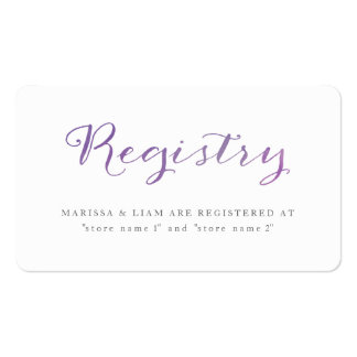 Pure Love Watercolor Registry Cards / Violet Business Card