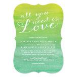 """Pure Love Wedding Invitation / Lime Emerald 5"""" X 7"""" Invitation Card"""
