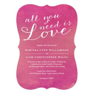 Pure Love Wedding Invitation / Rose