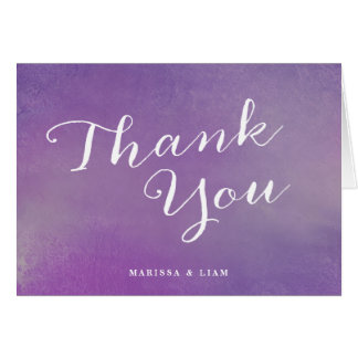 Pure Love Wedding Thank You Cards / Violet