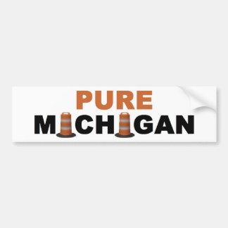 Pure Michigan: Road Construction Bumper Sticker