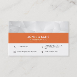 Pure Modern No1 Tri:Angle Orange Business Card