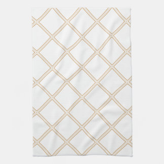 Pure Modern White Diamonds Pattern Hand Towel