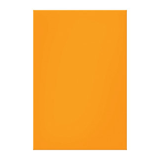 Pure Orange Color Trend Blank Template Stretched Canvas Prints