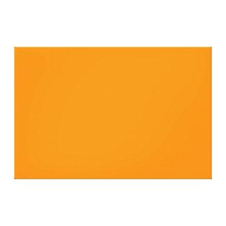 Pure Orange Color Trend Blank Template Canvas Print