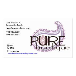 Pure Paisley Logo, Dena Freeman, 228 3rd Ave. N... Double-Sided Standard Business Cards (Pack Of 100)