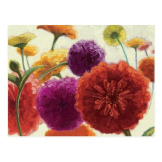 Pure Palette Zinnias Postcard
