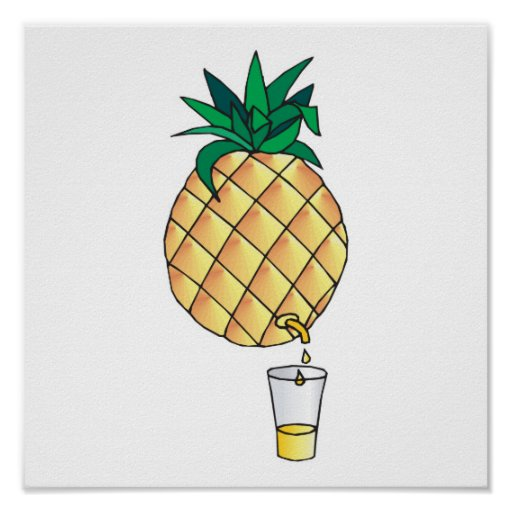 pure pineapple juice poster