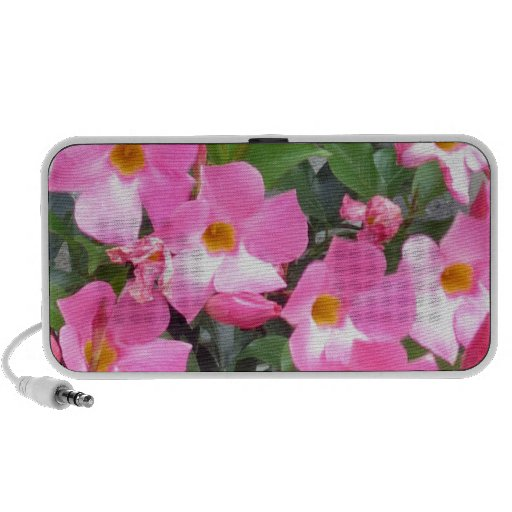 PURE pink smile FLOWERS Love Romance Sensual Gifts iPhone Speakers