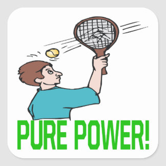 Pure Power Square Stickers