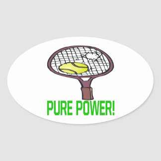 Pure Power Oval Stickers