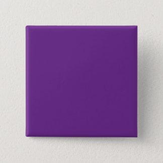 Pure Purple Personalized Trend Color Background Pinback Button