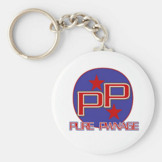PURE PWNAGE GAMER'S BASIC ROUND BUTTON KEYCHAIN