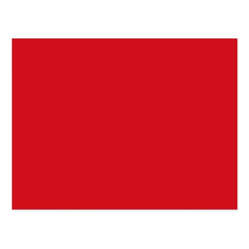 Pure red post card