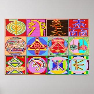 Pure REIKI Healing Art - 12 Symbols print