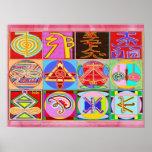 Pure REIKI Healing Art - 12 Symbols Posters
